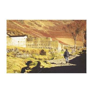 Andean landscape, Mérida, le Vénézuéla Toile Tendue Sur Châssis