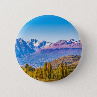 Andean Patagonia Landscape, Aysen, Chile 2 Inch Round Button