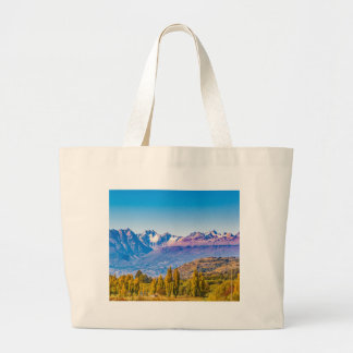 Andean Patagonia Landscape, Aysen, Chile Large Tote Bag