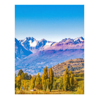 Andean Patagonia Landscape, Aysen, Chile Letterhead