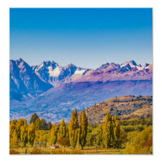 Andean Patagonia Landscape, Aysen, Chile Poster