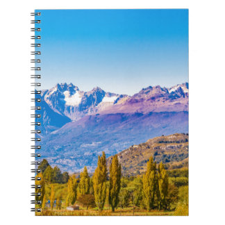Andean Patagonia Landscape, Aysen, Chile Spiral Notebook