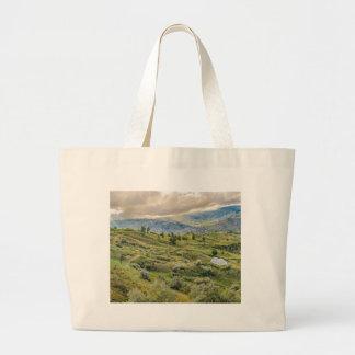 Andean Rural Scene Quilotoa, Ecuador Large Tote Bag