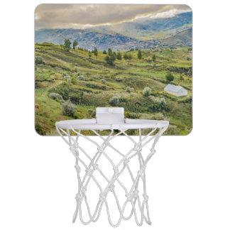 Andean Rural Scene Quilotoa, Ecuador Mini Basketball Hoop