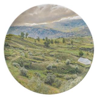 Andean Rural Scene Quilotoa, Ecuador Plate