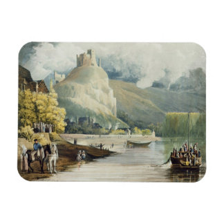 Andely, from 'Views on the Seine', engraved by Tho Rectangular Photo Magnet