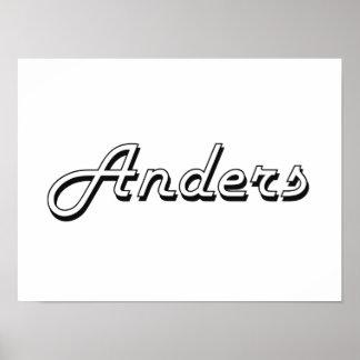 Anders Classic Retro Name Design Poster