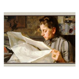 Anders Zorn Portrait of Emma CC0069 Postcard