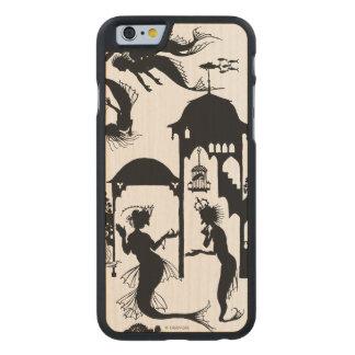 Andersen: Little Mermaid Silhouette Carved Maple iPhone 6 Case