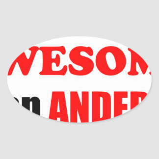 Anderson Awesome Family Oval Stickers