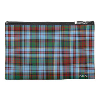Anderson Clan Light Blue Tartan Monogram Travel Accessories Bags
