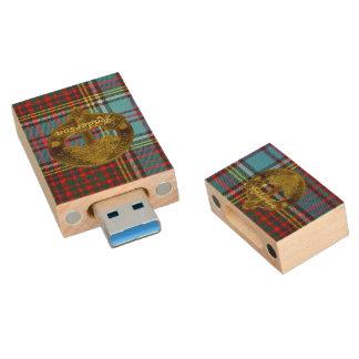 Anderson Clan Tartan & Motif Flashdrive Wood USB 3.0 Flash Drive