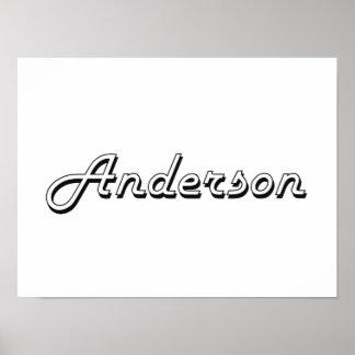 Anderson Classic Retro Name Design Poster