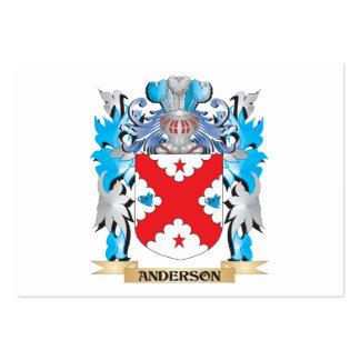 Anderson Coat Of Arms Business Card Templates