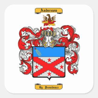 Anderson (English) Square Sticker