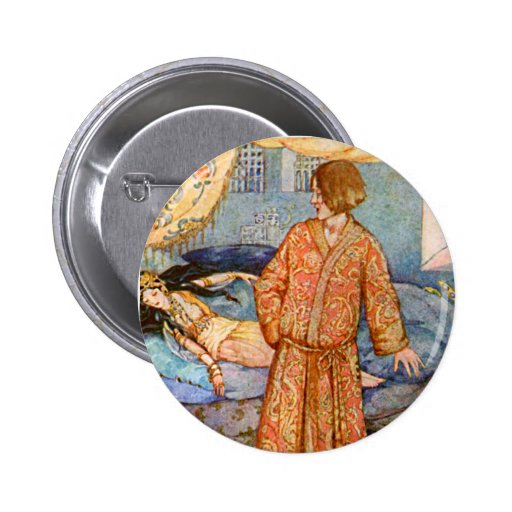 Anderson Fairy Tale Sleeping Beauty Illustration Pinback Button