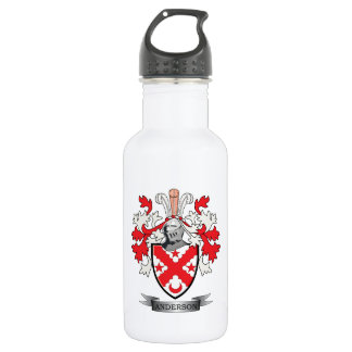 Anderson Family Crest Coat of Arms 532 Ml Water Bottle