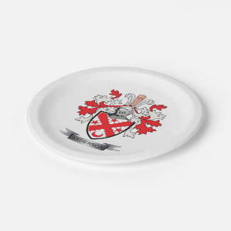 Anderson Family Crest Coat of Arms 7 Inch Paper Plate