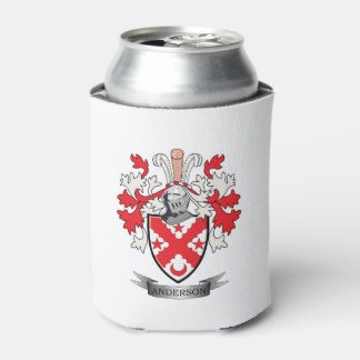 Anderson Family Crest Coat of Arms Can Cooler