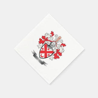 Anderson Family Crest Coat of Arms Disposable Napkins