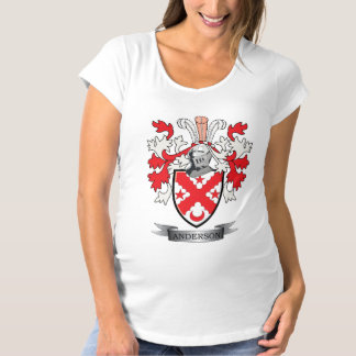 Anderson Family Crest Coat of Arms Maternity T-Shirt