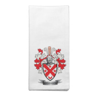 Anderson Family Crest Coat of Arms Printed Napkin