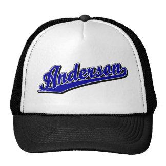 Anderson in Blue Trucker Hat