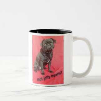 Anderson Pooper, the laziest but cutest Pug! Two-Tone Coffee Mug