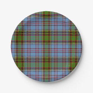 Anderson Scottish Tartan 7 Inch Paper Plate