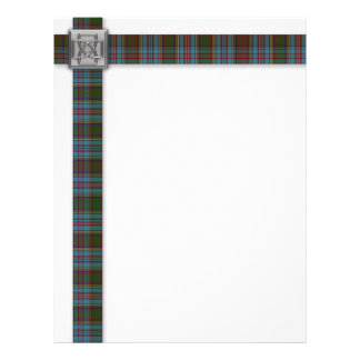 Anderson Tartan 'Ribbon' with Celtic Knot Pin Personalized Letterhead