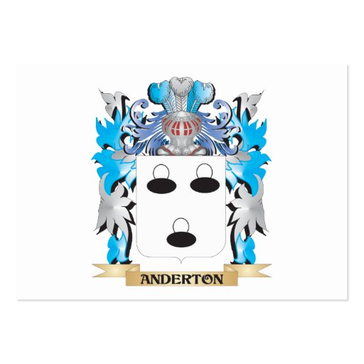 Anderton Coat Of Arms Business Card Templates