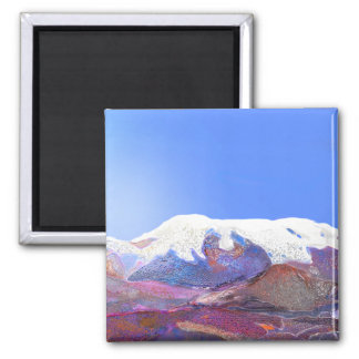 Andes Mountain View Peru #3 Square Magnet