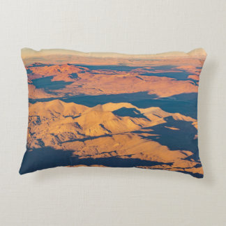 Andes Mountains Aerial Landscape Scene Accent Pillow