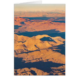 Andes Mountains Aerial Landscape Scene Card