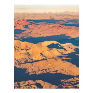 Andes Mountains Aerial Landscape Scene Custom Letterhead