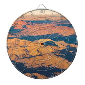 Andes Mountains Aerial Landscape Scene Dartboard