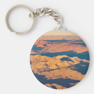 Andes Mountains Aerial Landscape Scene Keychain