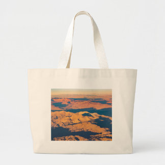 Andes Mountains Aerial Landscape Scene Large Tote Bag