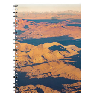 Andes Mountains Aerial Landscape Scene Notebook