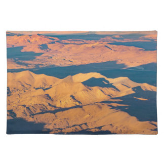 Andes Mountains Aerial Landscape Scene Placemat
