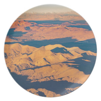 Andes Mountains Aerial Landscape Scene Plate
