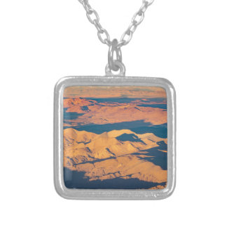 Andes Mountains Aerial Landscape Scene Silver Plated Necklace