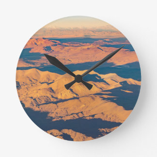 Andes Mountains Aerial Landscape Scene Wall Clocks