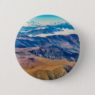 Andes Mountains Aerial View, Chile 2 Inch Round Button