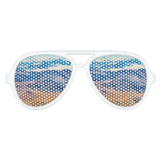 Andes Mountains Aerial View, Chile Aviator Sunglasses