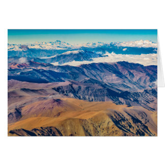 Andes Mountains Aerial View, Chile Card