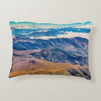 Andes Mountains Aerial View, Chile Decorative Pillow