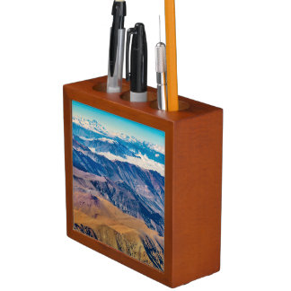 Andes Mountains Aerial View, Chile Desk Organizer