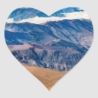 Andes Mountains Aerial View, Chile Heart Sticker