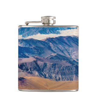 Andes Mountains Aerial View, Chile Hip Flask